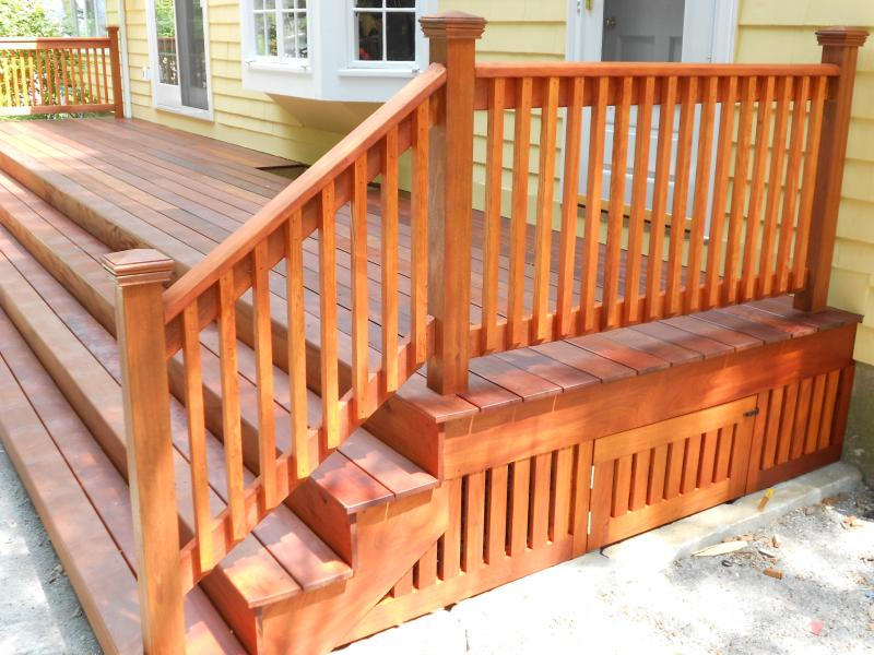 """Ipe"" wood deck treated with Penofin - Wakefield, MA"